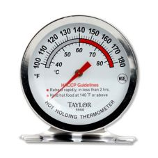 Taylor Precision 5980N 5* Commercial 100 - 180°F Oven Thermometer