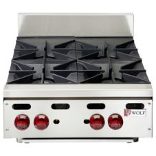 Wolf Range Achiever 120000 Total BTU 4-Open Burner Gas Hotplate