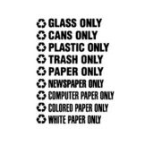 "Rubbermaid® FGRSW1 ""Glass Only"" Decals - 1 / CS"