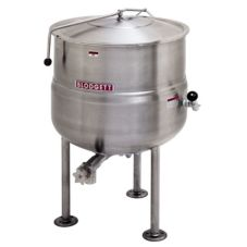 Blodgett 80 Gallon Direct Steam Tri-Leg Kettle w/ Spring Assist Cover