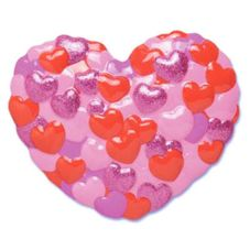 Bakery Crafts® V-202 Multi Glitter Heart Poptop - 24 / BX