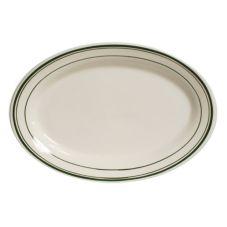"""Tuxton® TGB-034 9-3/8"""" x 6-1/2"""" Eggshell Oval Platter - 24 / CS"""