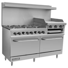 "Vulcan Hart V260 V Series 60"" Gas Restaurant Range with 6 Burners"