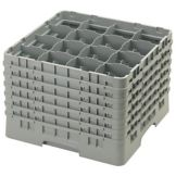 "Cambro 16S1214151 Gray 12-5/8"" Full Size 16 Comp Glass Rack - 2 / CS"