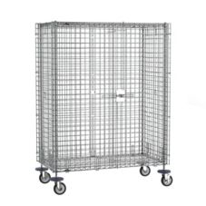 "Metro SEC55EC Super Erecta® 52-3/4""L Mobile Chrome Security Unit"