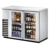 True® TBB-24-48G-S Swing Door Back Bar Cooler for 48 6-Packs