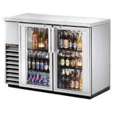 True® S/S 2-Glass Swing Door Back Bar Cooler for 82 6-Packs