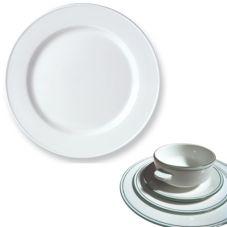 "Steelite 13150209 Simplicity Laguna 10-5/8"" Slimline Plate - 24 / CS"