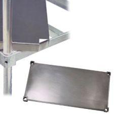 "New Age Industrial 1848SB Alum. 18 x 48"" Reinforced Solid Shelf"