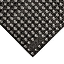 "Apex™ 183-210 Black 39 x 58-1/2"" San-Eze® Floor Mat"