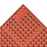"NoTrax 182-766 Red San-Eze II Greaseproof 39 x 58-1/2"" Floor Mat"