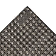 "NoTrax 182-998 Medium Black 39 x 29-1/4"" San-Eze® Floor Mat"