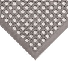Apex 436-971 Gray 3' x 5' Beveled Edge Tek-Tough Jr® Floor Mat