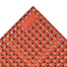 "Apex™ 182-741 Brick Red 39 x 39"" San-Eze II® Floor Mat"