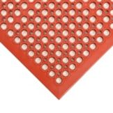 NoTrax® 436-932 Red 3' x 5' Tek-Tough Jr® Floor Mat