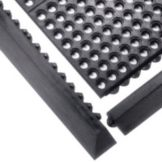 "Tomlinson 1035028 C-Kure® 3' x 3' x 1/2"" Black Interlocking Mat"
