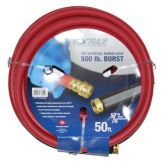 "NoTrax® 50' x 5/8"" dia. Red Rubber Hot Water Hose"