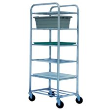 Win-Holt® UNAL-6 Aluminum 6-Shelf Universal Cart w/ Swivel Casters