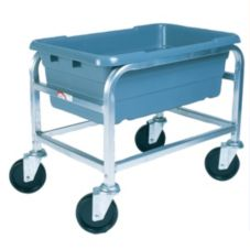 Win-Holt® SS-L-1 Single S/S Mobile Lug Cart with Swivel Casters
