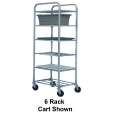 Win-Holt® UNAL-5-WEG Aluminum 5-Shelf Universal Cart with Casters