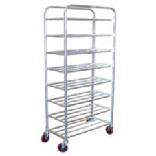 Win-Holt® UNAL-8-WEG Aluminum 8-Shelf Universal Cart with Casters