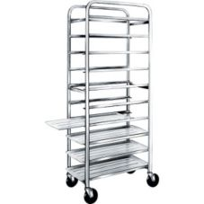 "Win-Holt® AL-1012 Aluminum Platter Cart for (12) 10"" Platters"