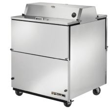 True® Dual Side S/S 13.8 Cu Ft Milk Cooler w/ Aluminum Interior