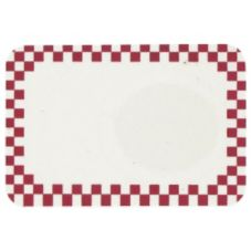 "Identity Systems CUSTOM Cranberry Check Border 2"" x 3"" Write-On Tag"