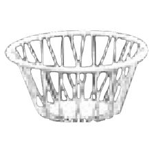 "Dover European Metalworks Nickel Chrome Round 6"" Euro Wire Basket"