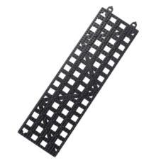 San Jamar® VM5180BK Black Versa-Mat® Strips™ Bar Mat