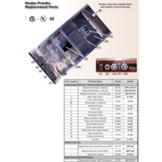 Win-Holt® H-227 600w Heater Element for NHP Proofer / Heater