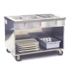 FWE Mobile 3 Well Handy Line Serving Cabinets, HLC-3W6-1