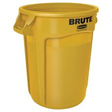 Rubbermaid® FG263200YEL BRUTE Yellow 32 Gal Container without Lid