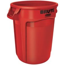 Rubbermaid BRUTE® Red 32 Gal Container w/o Lid