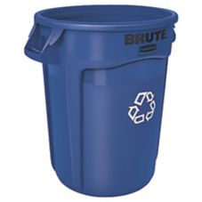Rubbermaid® FG263273BLUE BRUTE 32 Gal Recycling Container w/o Lid