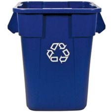 Rubbermaid BRUTE® Square Blue 40 Gal Recycling Container w/o Lid