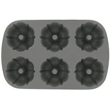 Focus Foodservice 905006 Cast Aluminum 6-Cup Fluted Muffin Pan