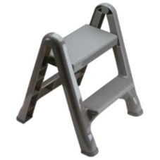Rubbermaid® FG420903CYLND Gray 2-Step Folding Stepstool