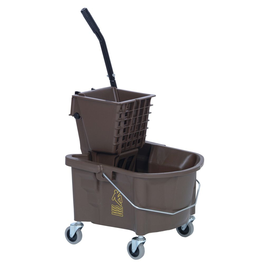 Splash Guard Continental 226-312BZ Bronze 26 qt Side Press Combo Mop Bucket at Sears.com