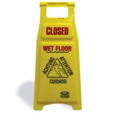 "Continental 119C Yellow 26"" Closed Wet Floor Sign"
