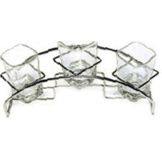 Tasting Rack, S/S, For 3 Square Glasses