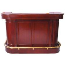 Mobile Bar, Wood Veneer W/ Solid Wood Molding, 75 x 31 x 48