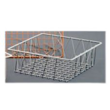 Dover European Metalworks Nickel Chrome Square Euro Wire Basket