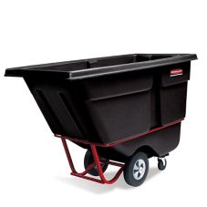 Rubbermaid® FG131500BLA Black Rotomolded 1 cu yd Tilt Truck