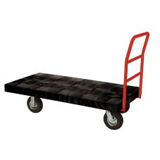 Rubbermaid® FG443600BLA Black Handled Standard Duty Platform Truck