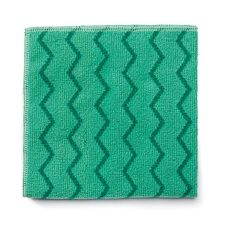 "Rubbermaid HYGEN XL Green Microfiber 20"" General Purpose Cloth"