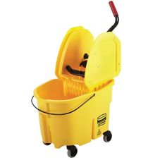 Rubbermaid WaveBrake® Yellow 35 Qt Down Press Wringer Combo