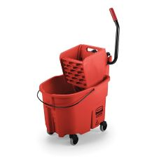 Rubbermaid® FG758888RED WaveBrake 35 Qt Side Press Wringer Combo