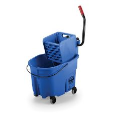 Rubbermaid® FG758888BLUE WaveBrake 35 Qt Side Press Wringer Combo