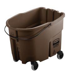 Rubbermaid® FG757088BRN WaveBrake Brn 35 Qt Mop Bucket w/ Casters